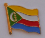 Comoros Country Flag Enamel Pin Badge